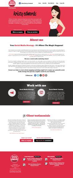 Web design for Kristy Edwards Portfolio Web Design, Social Media, Social Networks
