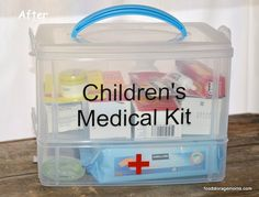 How To Make A Children's Medical Kit by Food Storage Moms