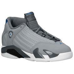 super popular 9fff8 94326 Jordan Retro 14 - Boys  Preschool - Basketball - Shoes - Wolf  Grey White Sport Blue