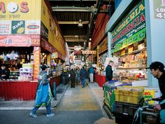 Saveur Mag - Guide to Santiago La Vega Central Market – Santiago, Chile Las Vegas, Central Market, All About Eyes, Vacation Spots, South America, Patagonia, Times Square, Street View, Adventure