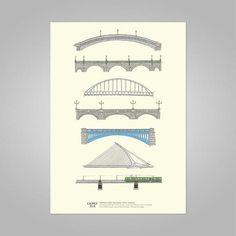 P R I N T S - Scout Dublin Dublin, Essex Street, Branding Design, How To Draw Hands, Bridge, Pastel, Graphic Design, Gift Ideas, Cake