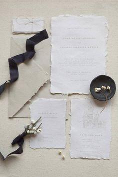 Typography Invitation Classic Wedding Simple Wedding Rustic | Lichen Ink Calligraphy