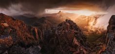 The Mists of Mordor. Cradle Mountain at sunset Tasmania Australia. Photo by Aaron Jones landscape Nature Photos Places To Travel, Places To See, Some Beautiful Pictures, Photos Of The Week, Nature Photos, Nature Nature, Natural Wonders, Wonderful Places, Beautiful Landscapes
