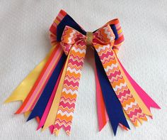 Horse show hair bows, pony girls in leadline, short stirrup, pony hunter classes at English horse shows. Hair accessory. Beautiful with navy