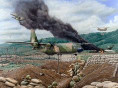 Lockheed C-130 Vietnam Don Feight Air Vietnam, Vietnam Vets, C 130, Military Art, Military History, First Indochina War, Military Drawings, Vietnam War Photos, Aircraft Painting