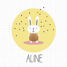 Konijn - Geboortekaartje  www.carddreams.be