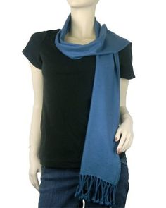 Pure Pashmina Scarf Moroccan Blue 3 Ply The Pashmina Store. $35.99