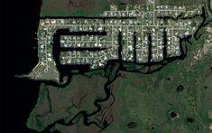 A development built near North Fort Myers Florida on the Caloosahatchee River.