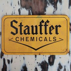 Vintage Stauffer Chemicals Metal Sign by BlinkLab on Etsy