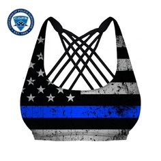 Sports Bra dedicated to those police officers who have died in the line of duty. A portion of all proceeds go to the C.O.P.S. charity.