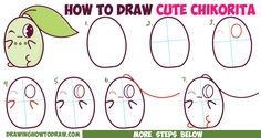 How to Draw Cute / Kawaii / Chibi Chikorita from Pokemon in Easy Step by Step Drawing Tutorial for Beginners