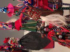 Costumed alebrijes at Museo Textil de Oaxaca