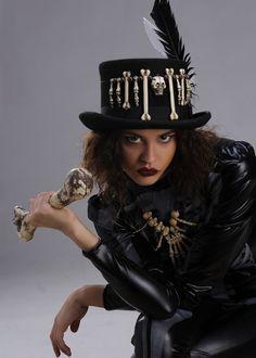 Deluxe Voodoo Witch Doctor Top Hat [ST806] - Struts Party Superstore