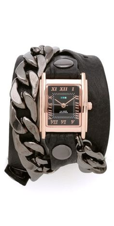 chain wrap watch, wear with white tee/skinny jeans/high top sneakers