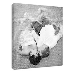 photo words canvas wedding art