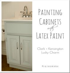 Find Clark & Kensington Paint at your local Hagan Ace Hardware. Let our experts help you pick the perfect color, finish, and tools to help you get the job done! Refurbished Cabinets, Wood Cabinets, Painting Trim, Diy Painting, Paint Furniture, Home Furniture, Bathroom Paint Colors, Painting Cabinets, Home Projects