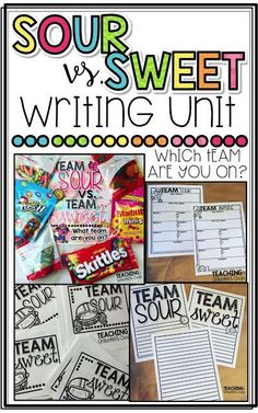 Team Sour vs. Team Sweet Opinion Writing Unit for Primary Grades 1 and 2