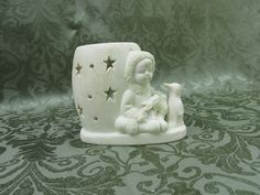 Delagar Snow Sweeties The Snowman Tealight Candle Holder 1999