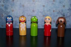 Peg People- It's the Muppets. $30.00, via Etsy.