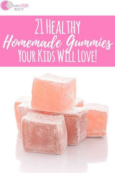 21 Healthy Homemade Gummies Your Kids Will Love! Healthy Sweet Treats, Healthy Sweets, Healthy Drinks, Healthy Snacks, Healthy Life, Healthy Living, Eat Healthy, Healthy Recipes, Sweet Recipes