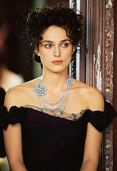 ❥ Chanel loaned the film production of Anna Karenina jewellery in 18-carat gold, diamonds and pearls. The most valuable piece, the Camelia Poudré necklace is worth 800,000 pounds...