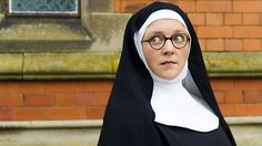 Ready for a new British cozy mystery series, featuring a warm, smart-as-can-be young nun? The Sister Boniface Mysteries is a Father Brown spin-off from BBC. Period Drama Series, British Period Dramas, Drama Tv Series, Tv Series To Watch, Detective Series, Mystery Series, Cozy Mysteries, Murder Mysteries, Human Figures