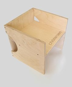 Birch Plywood Cube Chair | Daily deals for moms, babies and kids