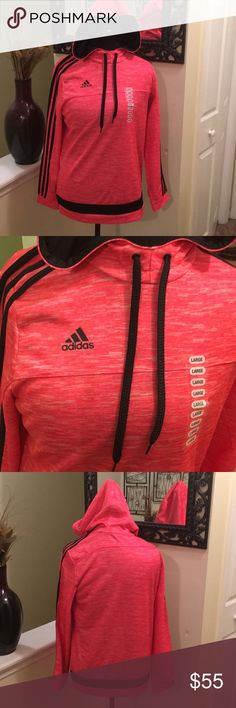 New Pink Adidas performance hoodie New Pink adidas performance hoodie.  * pink and black  * 100% polyester adidas Sweaters