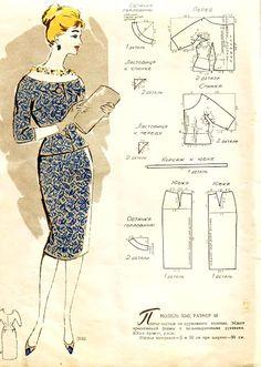 An album of vintage pattern drafting instructions - Picasa Albums Web Vintage Dress Patterns, Barbie Patterns, Dress Sewing Patterns, Vintage Sewing Patterns, Clothing Patterns, Skirt Patterns, Coat Patterns, Blouse Patterns, Barbie Vintage