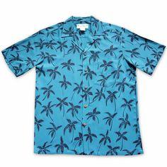 Balmy Blue Hawaiian Rayon Shirt  #madeinhawaii #hawaiian