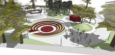 CC_UI Arq. Urbana_Proyect Diseño espacio público_201602 on Los Andes Portfolios Urban Landscape, Landscape Design, Behance, Branding, Architecture, Creative, Illustration, Goal, Public Space Design