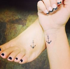 Mother Daughter Anchor Tattoos