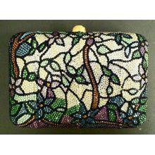 Butler & Wilson Swarovski Crystal Cross Clutch Bag Pewter ...