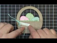 cardmaking video tutorial:  Hardwood Easter Basket ... another great video from Dawn Olchefske ...