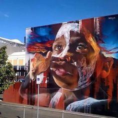 Street Art by Melbourne based artist Matt Adnate Urban Street Art, 3d Street Art, Street Artists, Murals Street Art, Street Art Graffiti, Mural Art, Banksy, Zebra Art, Amazing Street Art