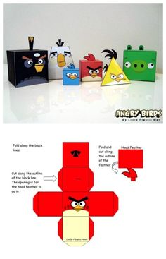 Angry Bird Boxes -- Red