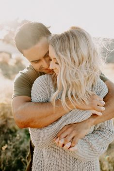 Get a glimpse inside Lindsey and Oscar's playful and windy desert engagement session at the Twin Sisters Rock near Touchet Washington.