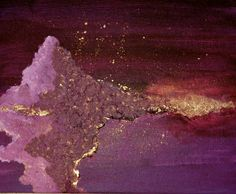 gold and purple painting i did