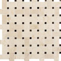 Basketweave Mosaics Tumbled Natural Stone Tile   Arizona Tile