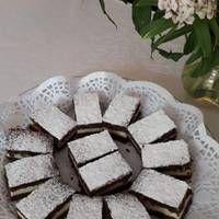 Pudingos-tejfölös szelet Macarons, Feta, Dairy, Cheese, Blog, Macaroons, Blogging