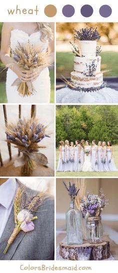 Top 10 Rustic Fall Wedding Ideas and Colors-Wheat Wedding #colsbm #bridesmaids #weddings #weddingideas #fallweddings b031