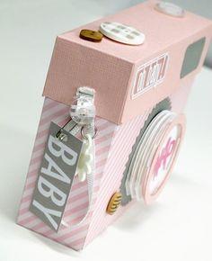 kim watson ★ paper crafts ★ designs: Camera shaped mini book + FREE cut file.