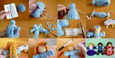 Bildergebnis für manualidades con lana faciles paso a paso Yarn Dolls, Wool Dolls, Diy And Crafts, Crafts For Kids, Arts And Crafts, Diy Doll, Toys For Girls, Girl Toys, Fun Projects