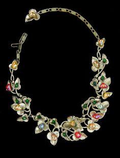 Signed Multicolored Stones Ivy Schiaparelli Necklace | eBay