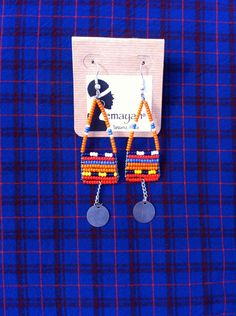 emayan on Etsy. Maasai Women's Earrings