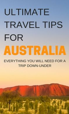 The Big Loop Around Australia Road Trip. Ultimate Travel Tips For Australia, everything you will need for a trip down under. #australiatravel