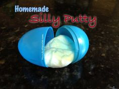 Fun crafts for boys this summer. Make homemade Silly Putty using Borax. How to make silly putty great for Easter gift too.