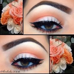 Eye makeup can improve your attractiveness and also help to make you look amazing. Discover the way to apply make-up so that you may easily show off your eyes and make an impression. Uncover the most effective ideas for applying make-up to your eyes. Cute Makeup, Pretty Makeup, Pin Up Makeup, Sleek Makeup, Beautiful Eye Makeup, Make Up Designs, Beauty Make-up, Natural Beauty, Natural Makeup