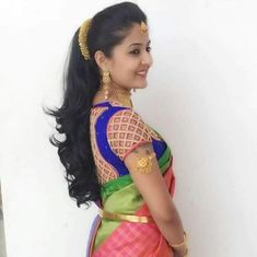 Simple Reception Hairstyles Hair styles in 2019 Saree hairstyles Indian bridal hairstyles Bridal Hairstyle Indian Wedding, South Indian Bride Hairstyle, Bridal Hairdo, Indian Wedding Hairstyles, Indian Hairstyles For Saree, Wedding Sari, Hairdo Wedding, Saree Hairstyles, Bride Hairstyles