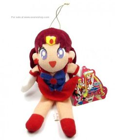 Sailor Moon Sailor Mars Plush Doll Vintage 90s Japanese Sitting UFO Catcher With Tag